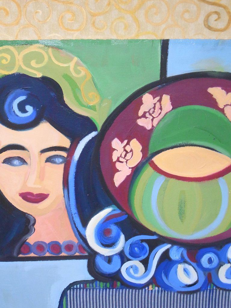 Dame im Spiegel