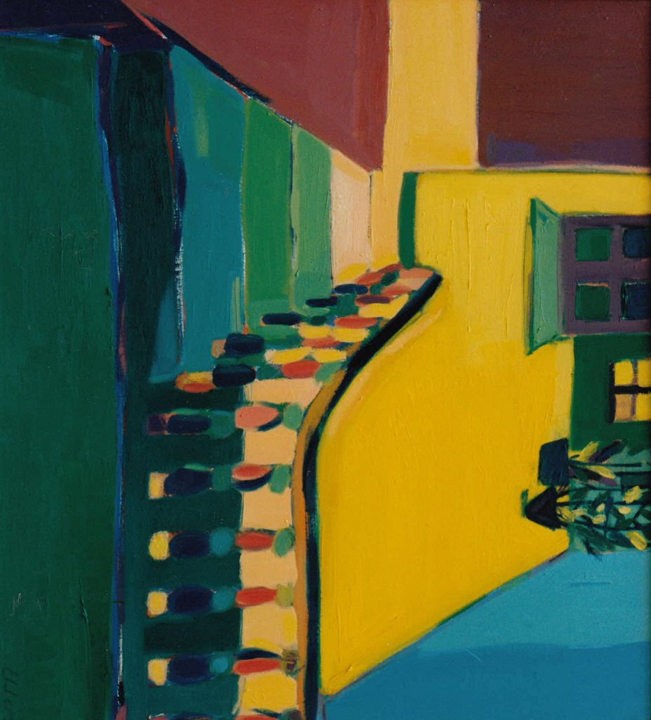 Treppe in Gelb